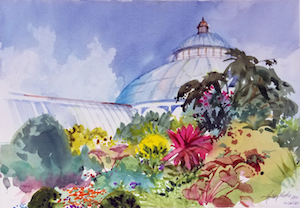 New York Botanical Garden Watercolor Painting