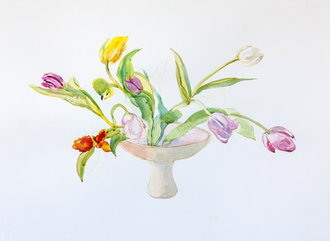 Holly Meeker Rom Tulips in Vase